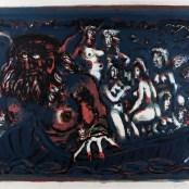 67. Tono Zancanaro, Caron Dimonio, litografia, mm620x850, 1966