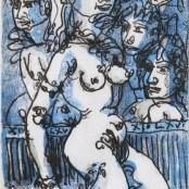 80. Tono Zancanaro, Non facea nascendo ancor paura, litografia, mm155x83, 1966