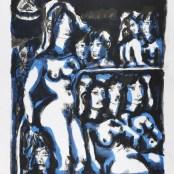82. Tono Zancanaro, Non facea nascendo ancor paura, litografia, mm605x445, 1967