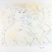 96. Tono Zancanaro, Paolo e Francesca, serigrafia, mm500x700, 1983