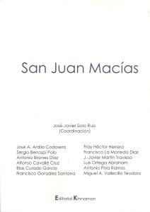 Portada del libro San Juan Macías