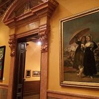 """""""Goya contrastado"""". Obras invitadas al Museo Lázaro Galdiano: """"La carta o Las jóvenes"""" de Goya y """"Adami y Goya en el salón"""" del Equipo Crónica"""