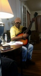 the brilliant Neddy Smith, Sunday jam at my house