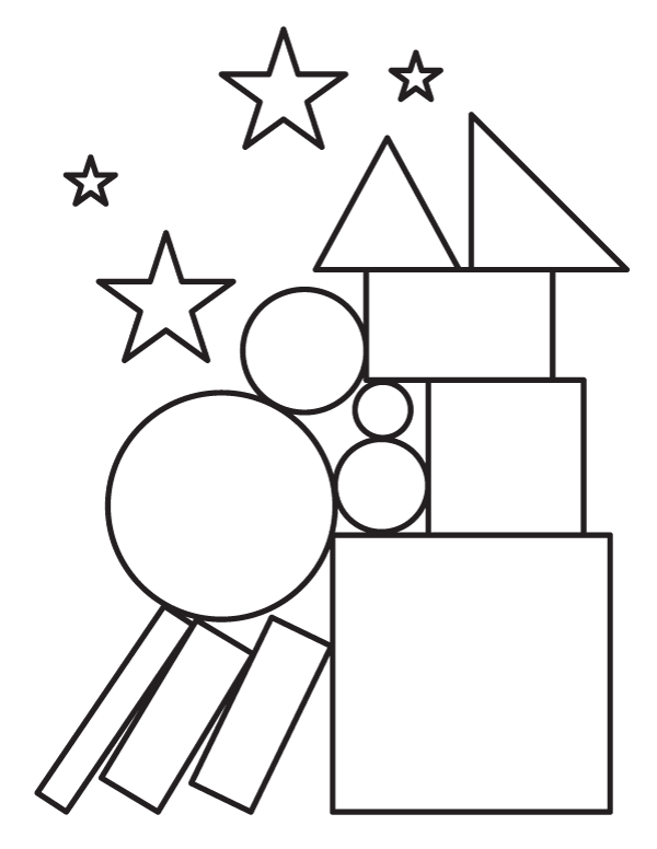 Printable Shapes Coloring Page