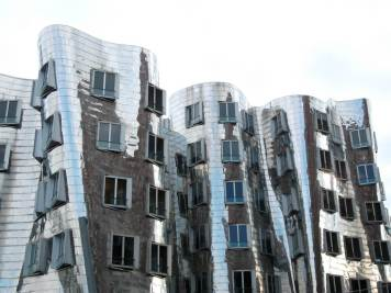 Neuer Zollhof, designed by Frank Gehry, Dusseldorf, Germany. One of the country's many underrated cities. I spend a surprising amount of time here: generating insight, testing concepts, evaluating scripts.