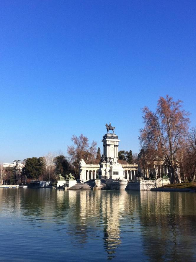 """El Retiro Park, Madrid. February. It was pouring with rain and cold in London when I took this, and the day before my client and I had lunch outside it was so warm. On informing my colleagues of my circumstances one replied """"You're not making many friends around here"""""""
