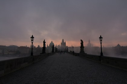 Charles Bridge, Prague. A city I have spent many happy months in. Rather remarkably I was once suspected of being a terrorist here! My own fault.