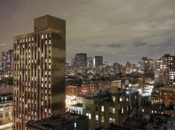 New York. View from my room at the Hotel on Rivington, Lower East Side. The view is considerably better than the hotel. Quite how it is rated as one of the most desirable hotels in the world, beats me.