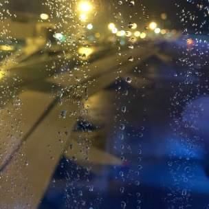 Another flight. Dark, raining. An all too familiar scene.