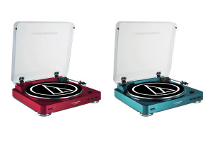 AT-LP60 Fully Automatic Stereo Turntable System in striking blue (AT-LP60BL) and red finishes  (AT-LP60RD), available exclusively at Amazon.com. Also available in silver, the AT-LP60 is a complete turntable and cartridge package that makes it easy to enjoy listening to records.