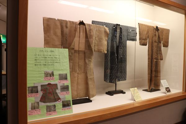 芭蕉布の衣服「バサージン」も展示されています