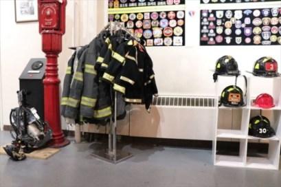 消防服を着て写真が撮れます