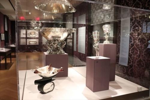 銀器の展示コーナー。銀製品づくりが盛んなのでしょうか?