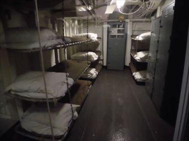 船員のベッド