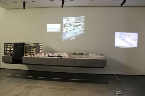 美術館の建築模型も展示されていました