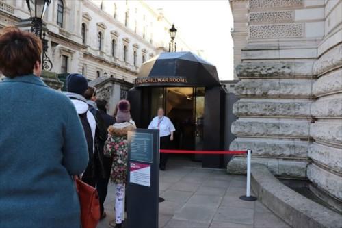 チャーチル博物館・内閣戦時執務室の入り口