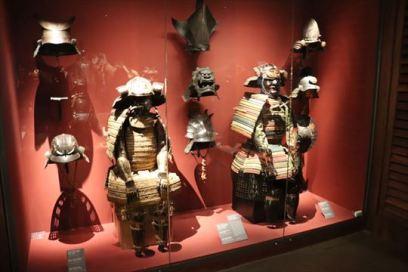 日本の甲冑も展示されています