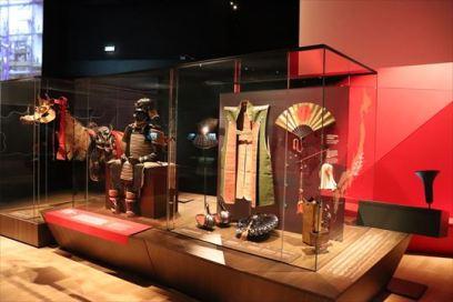 日本の展示といえば、こうしたものが定番ですね