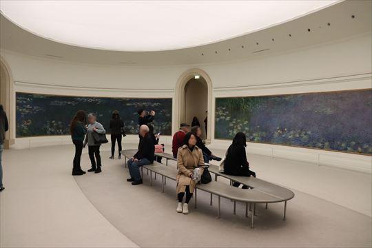 柔らかな光あふれる楕円形の展示室