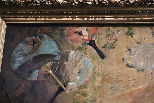 団扇には浮世絵が描かれているようです