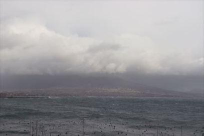 天気が良ければヴェスヴィオ火山が見えるはず