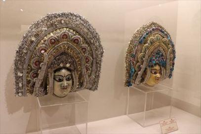 マスクの展示室は比較的最近オープンしたようです