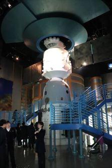宇宙開発にも力をいれている中国らしい展示コーナー