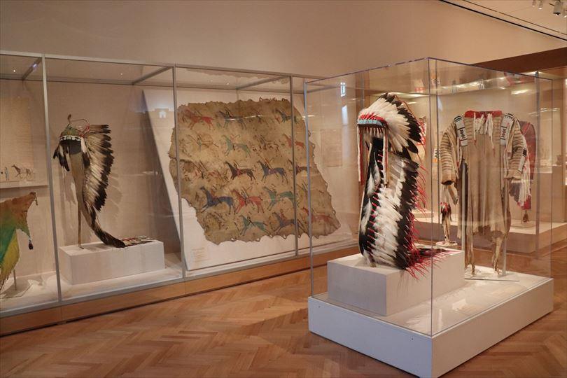 ここにも文化人類学的な展示。ネイティブ・アメリカンの展示