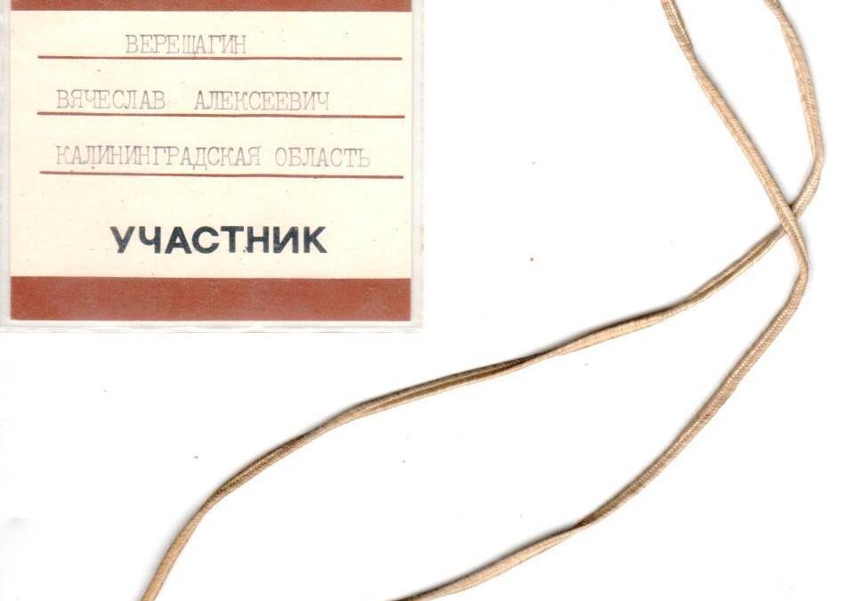 Участник спортокиады, Верещагин, Калининград
