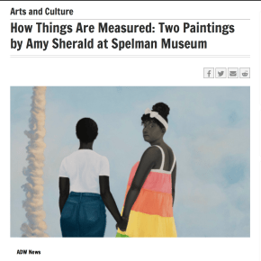 Atlanta Daily World: How Things Are Measured: Two Paintings by Amy Sherald at Spelman Museum