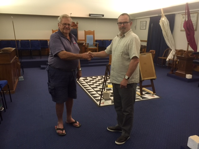Photo with Dave Starr Secretary Rodney Lodge No 1711