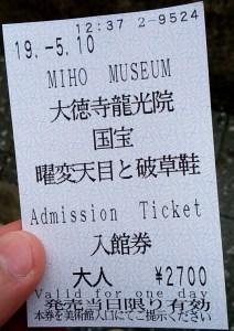 MIHOミュージアム観覧割引券