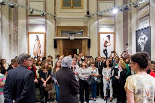 Presentación de la exposición de obras premiadas Figurativas en la pasada edición de 2013 en el MEAM.