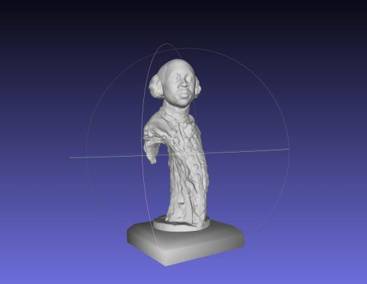 3D model of a bust of Olaudah Equiano