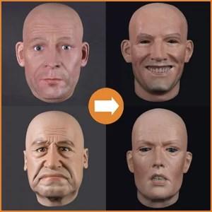 Extra realistische hoofden
