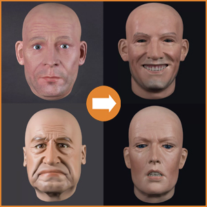 Extra realistic heads