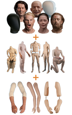 Mix & Match die Körperteile