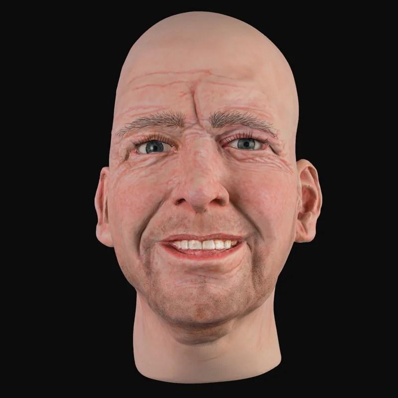 MHA887 Realistic mens head | Airbrushed