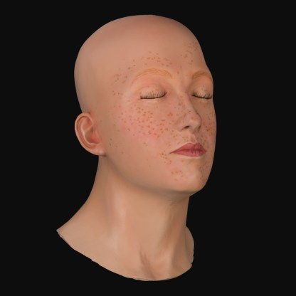 Realistic airbrushed female mannequin head