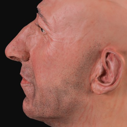 Realistic male mannequin head | Airbrushed