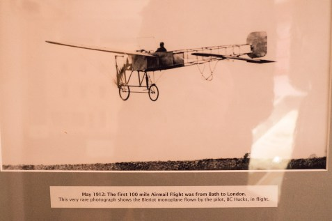 Bath Postal Museum first 100 mile airmail flight