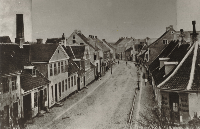 Foto af Slotsgade i 1870