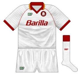 1990-91 Roma away