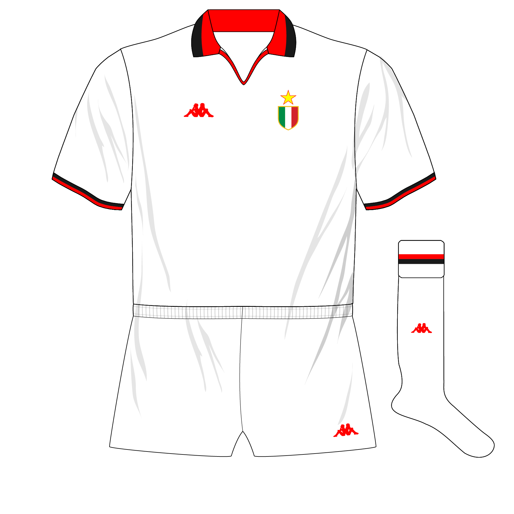 de6665cae7fc9 All-white on the night for Milan – Museum of Jerseys