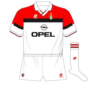 AC-Milan-1994-1995-white-away-kit-shirt-Opel-Lotto