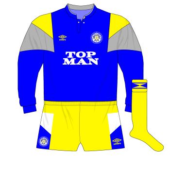 1989-1991-Leeds-United-blue-goalkeeper-kit-Mervyn-Day-Shelbourne-Tolka-Park
