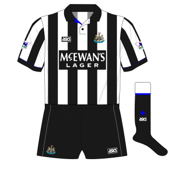 Newcastle-United-1993-1995-asics-home-kit-shirt-McEwans-Lager