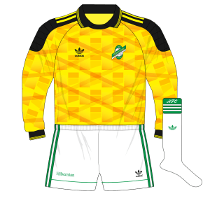 adidas-Hibernian-yellow-goalkeeper-shirt-1991-Burridge
