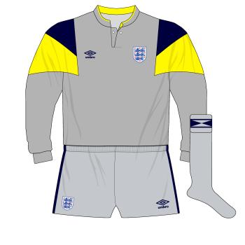 England-Umbro-1989-grey-goalkeeper-shirt-Yugoslavia-Dave-Beasant-Chris-Woods