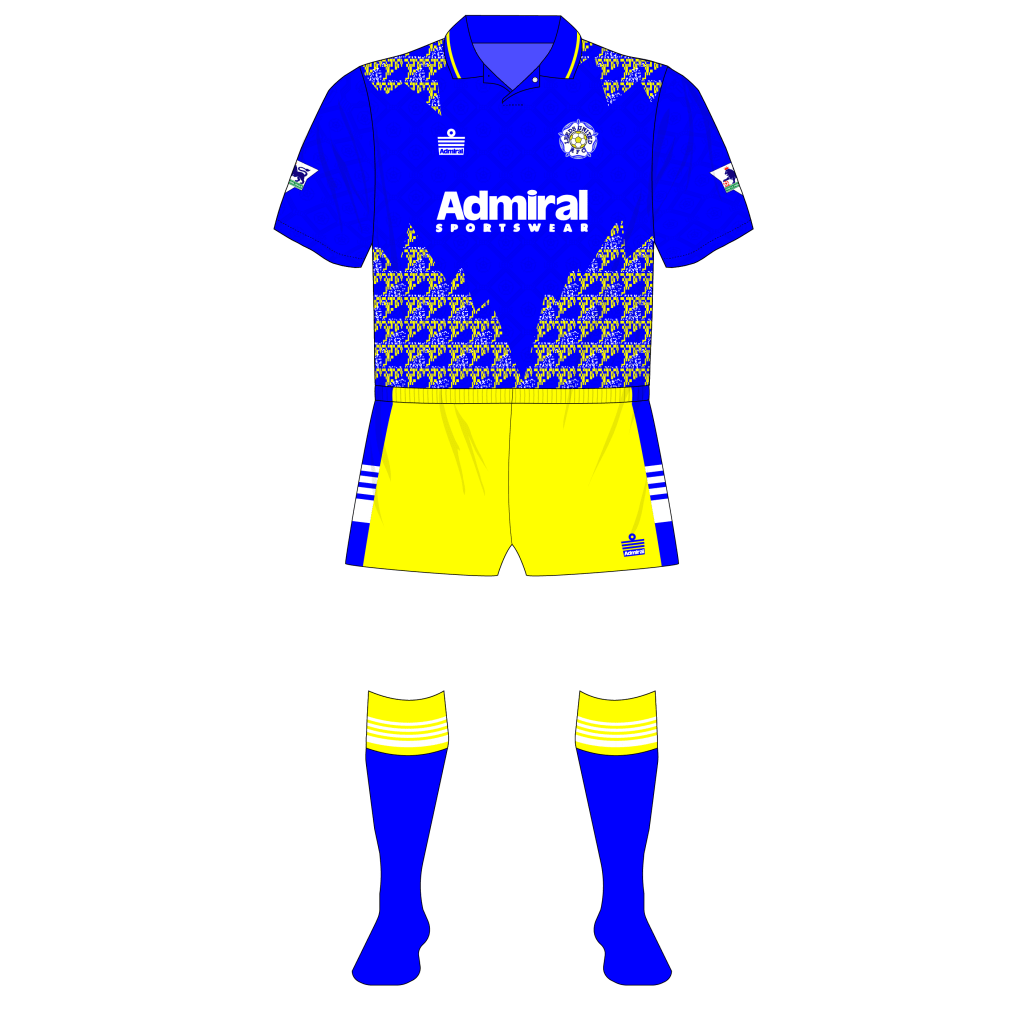 Leeds-United-1992-1993-Admiral-away-shirt-third-shorts-Tottenham